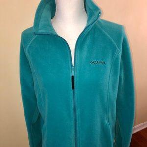 Columbia blue fleece zipper jacket size L